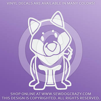 Cartoon Shiba Inu Vinyl Stickers