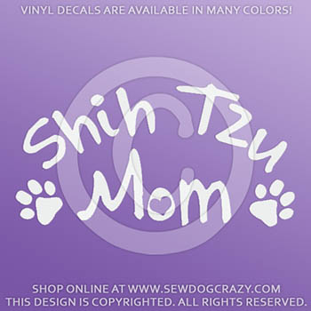 Vinyl Shih Tzu Mom Stickers