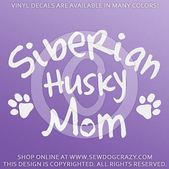 Vinyl Siberian Husky Mom Stickers