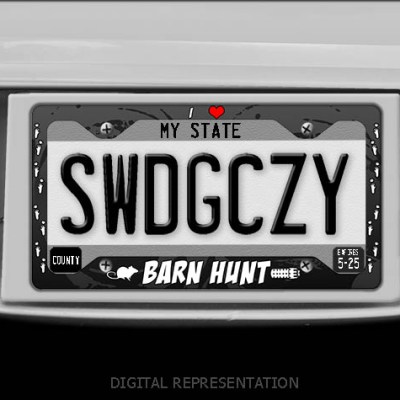 I Love Barn Hunt License Plate Frame