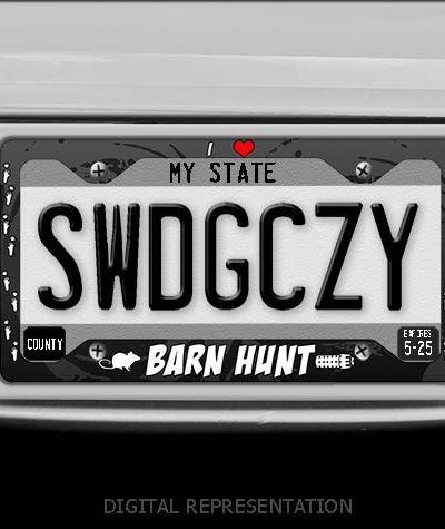 I Love Barn Hunt License Plate Frame