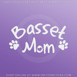 Basset Mom Decal