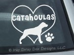 I Love Catahoulas Decal