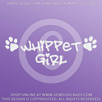 Whippet Girl Car Decal