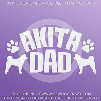 Akita Dad Vinyl Sticker