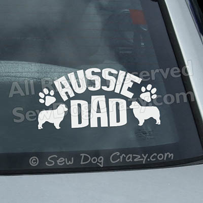 Australian Shepherd Dad Car Window Stickers