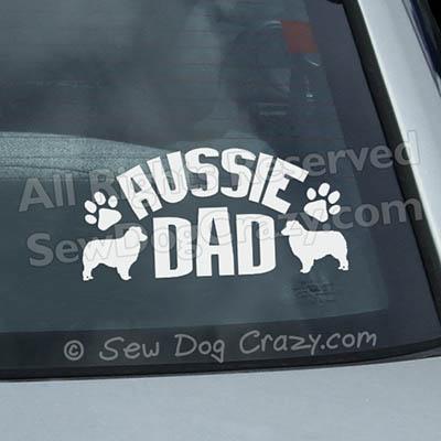 Australian Shepherd Dad Car Window Stickers