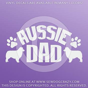 Australian Shepherd Dad Car Decals