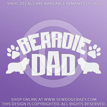 Bearded Collie Dad Car Sticker