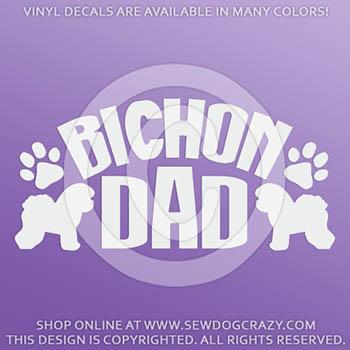 Bichon Frise Dad Car Stickers