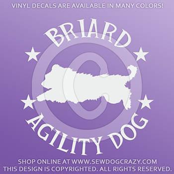 Briard Agility Decals