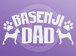 Basenji Dad Decals
