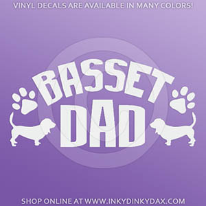 Basset Dad Decal