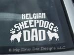 Belgian Sheepdog Dad Decal