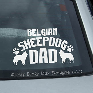 Belgian Sheepdog Dad Decal