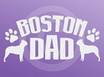 Boston Terrier Dad Decals