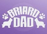 Briard Dad Decals