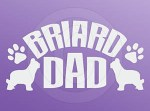 Briard Dad Decals