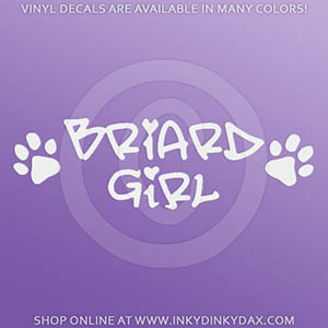 Briard Girl Decals