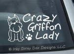 Brussels Griffon Lady Decal