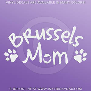 Brussels Griffon Mom Decal