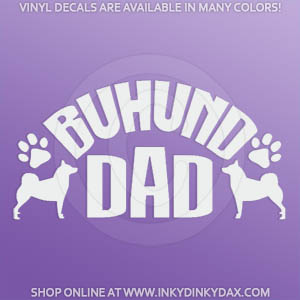 Buhund Dad Decals