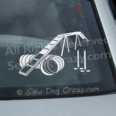 Dog Walk Tunnel Jump Car Sticker