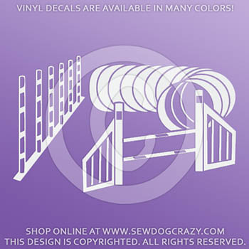 Weaves Tunnel Wing Vinyl Decal