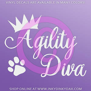 Agility Diva Sticker