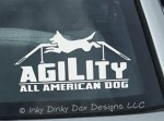 All American Dog Agility Sticker