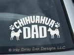Chihuahua Dad Decal
