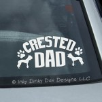 Chinese Crested Dad Decal
