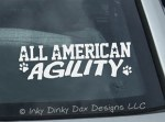 All American Dog Agility Stickers