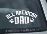 All American Dog Dad Sticker