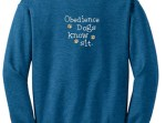 Embroidered Obedience Dog sweatshirt
