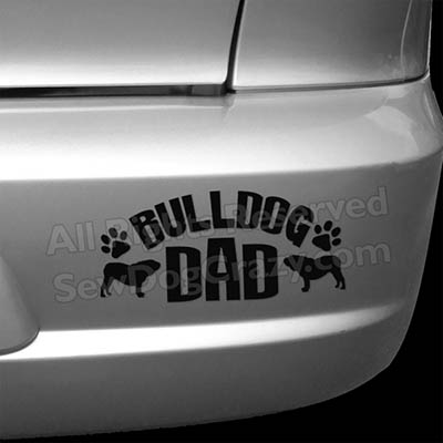 English Bulldog Dad Decal