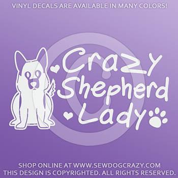 German Shepherd Lady Car Sticker
