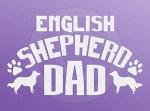 English Shepherd Dad Sticker