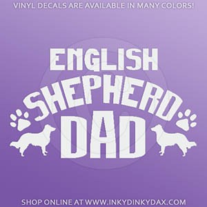 English Shepherd Dad Sticker
