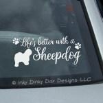 Old English Sheepdog Car Stickers