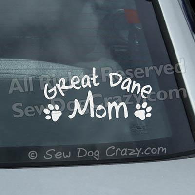 Great Dane Mom Window Decals
