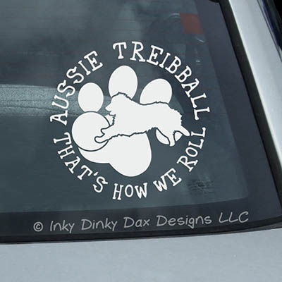 Aussie Treibball Car Sticker