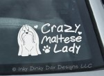 Crazy Maltese Lady Decal