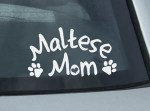 Maltese Mom Decal