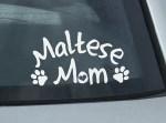 Maltese Mom Decal