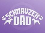 Schnauzer Dad Car Decal
