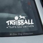 Vinyl Treibball Stickers