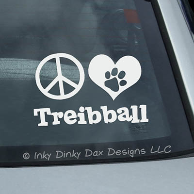 Peace Love Treibball Stickers