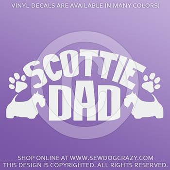 Scottish Terrier Dad Vinyl Sticker
