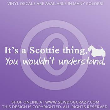 Scottish Terrier Car Decals